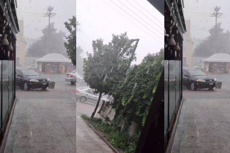 Shi e breshër, 'tërbohet' moti, shikoni VIDEON