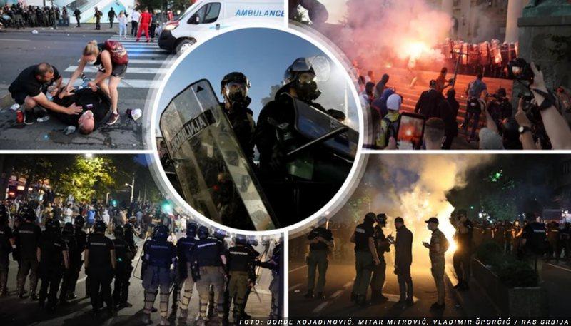 Kaos në Beograd, qytetarët në rrugë kundër