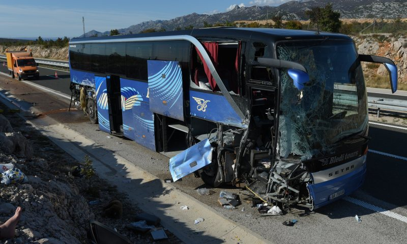Bus with Albanian license plates crashes in Croatia, injured (First Details)