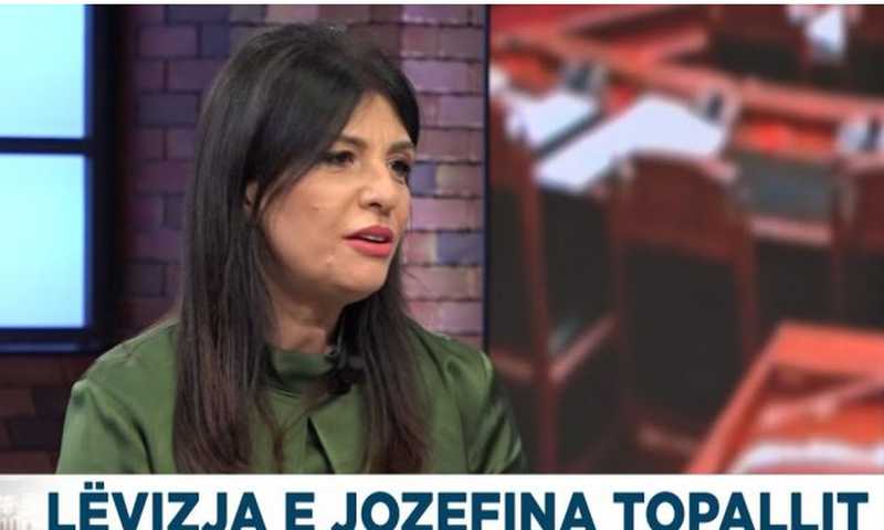Jozefina Topalli: This is what the Movement for Change aims at, the problem of