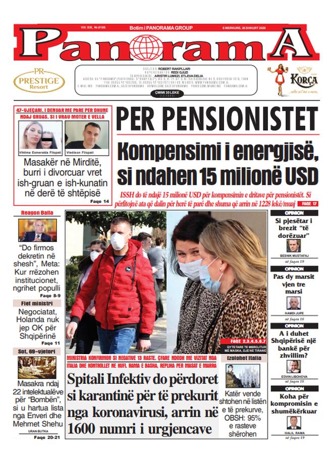 Shtypi/ Titujt kryesorë të gazetave për ditën 26 shkurt 2020