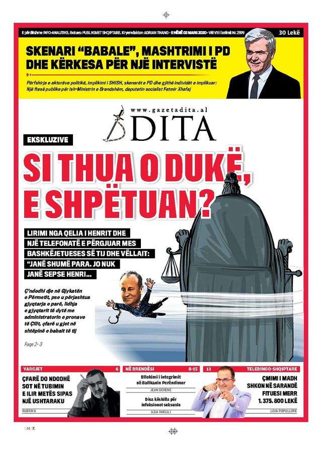 Shtypi/ Titujt kryesorë të gazetave për ditën 2 mars 2020