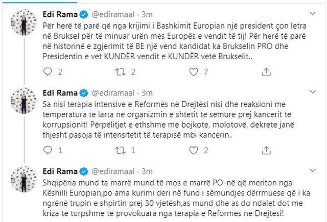 Rama reagon për letrën e Metës: Për herë të