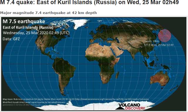 Tërmet me magnitudë 7.4 dhe alarm për tsunami në SHBA, Rusi