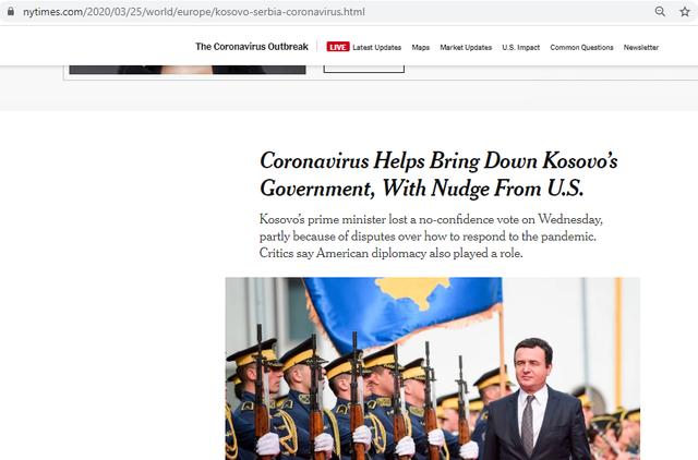 The New York Times: Koronavirusi ndihmoi në rrëzimin e qeverisë