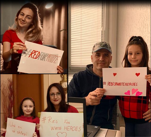 #RedforWhite/ E gjithë mirënjohja në një videomesazh