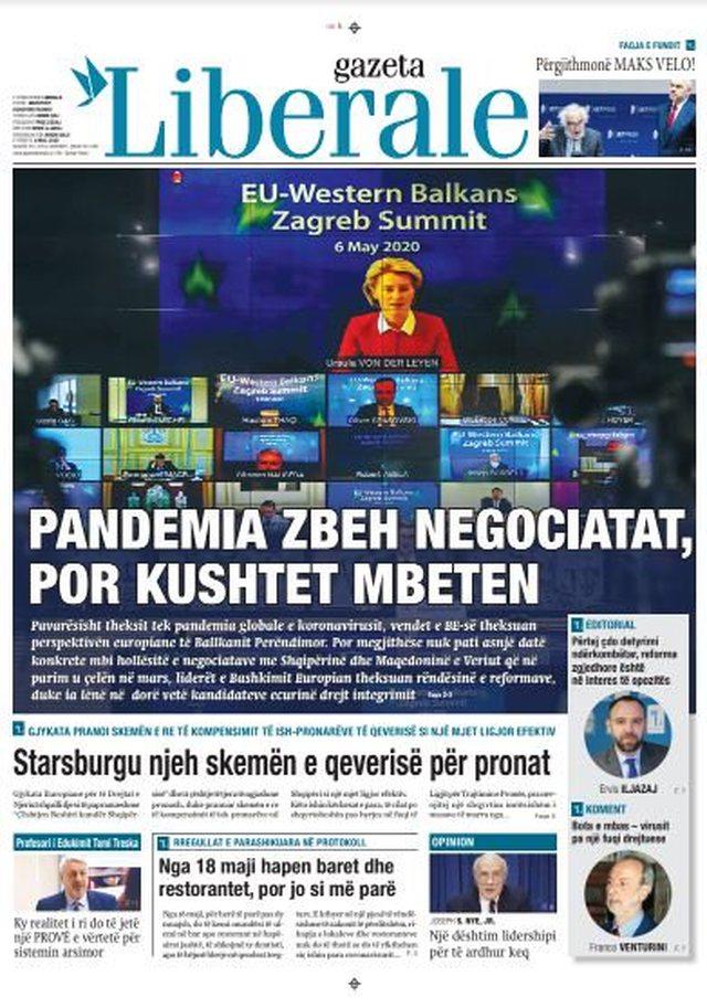Shtypi/ Titujt kryesorë të gazetave për datën 8 maj 2020