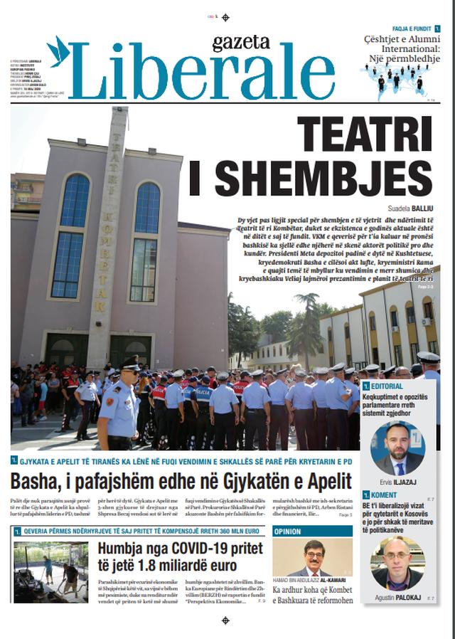 Shtypi/ Titujt kryesorë të gazetave për datën 15 maj 2020