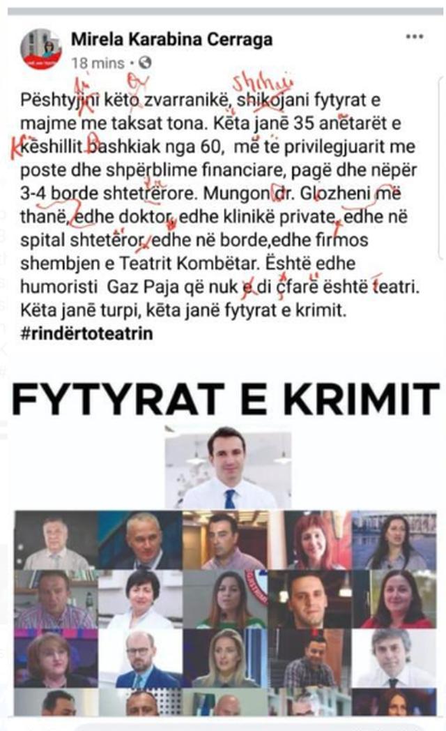 Ish-ministrja analfabete e Bashës!