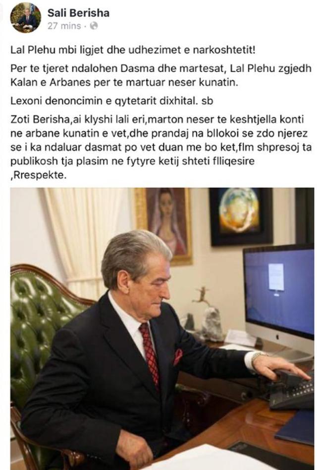 Fake News / Berisha again degrades, accuses Veliaj of imaginary brother-in-law