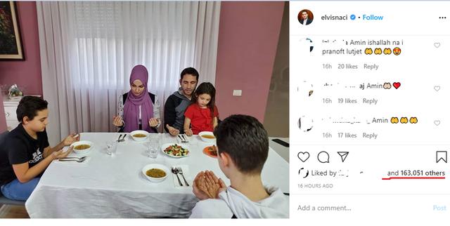 Tryeza e darkës minimaliste e Imamit Naçi që merr mijëra