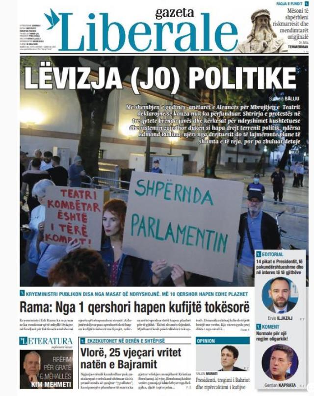 Shtypi/ Titujt kryesorë të gazetave për datën 25 maj 2020