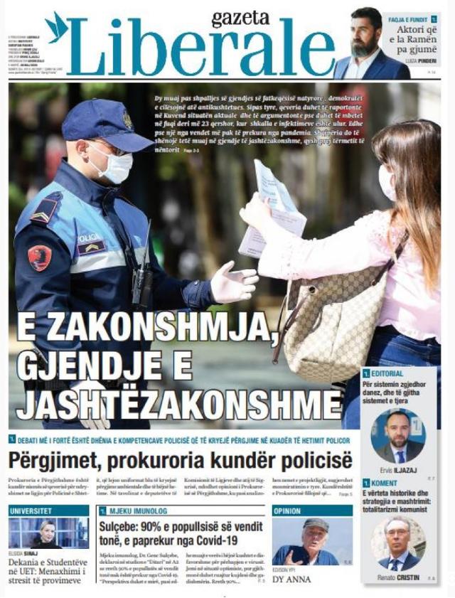 Shtypi/ Titujt kryesorë të gazetave për datën 26 maj 2020