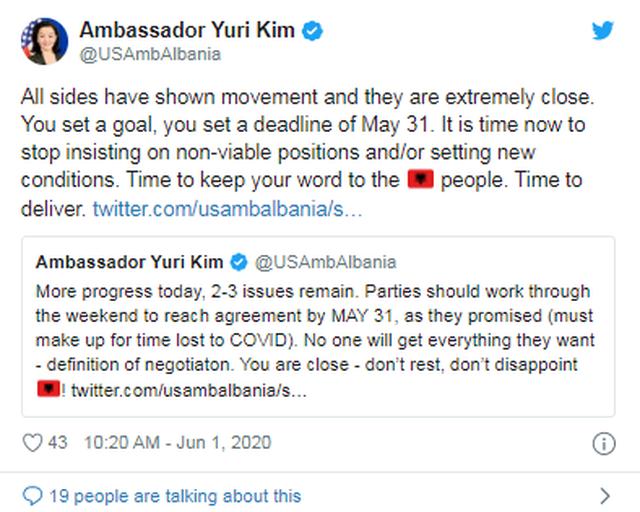 Yuri Kim, kundër pretendimeve të opozitës për Reformën