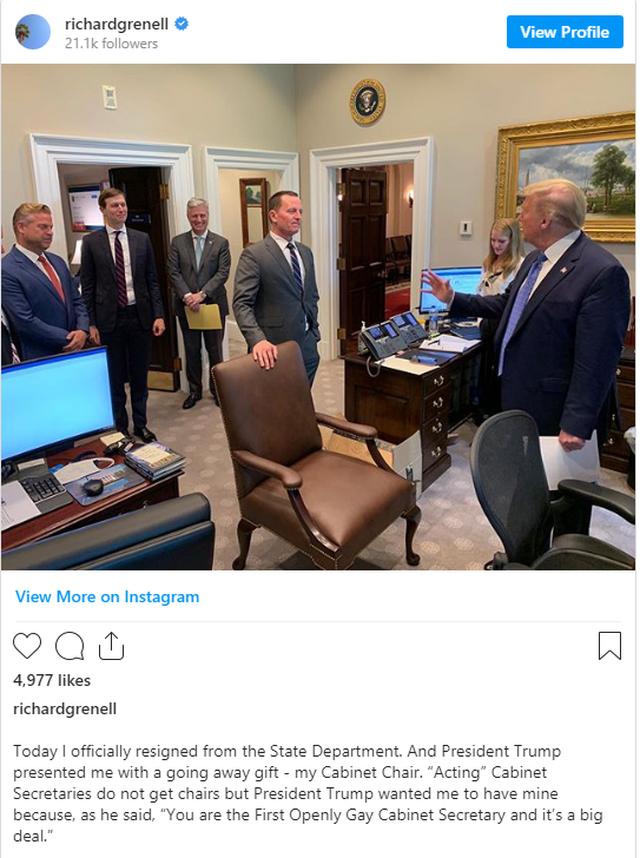 Grenell dorëhiqet nga posti, Trump i bën dhuratë karrigen: I pari