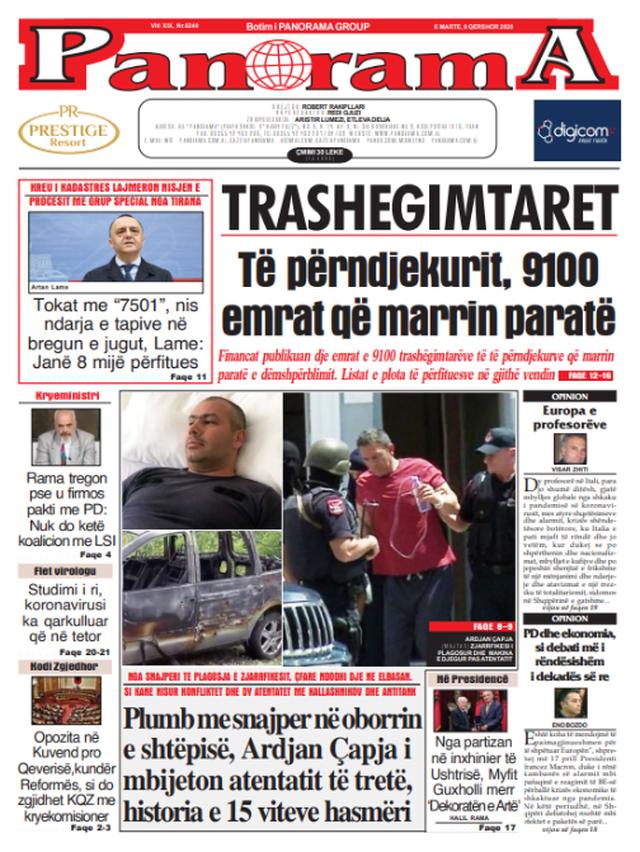 Shtypi/ Titujt kryesorë të gazetave për datën 9 qershor 2020