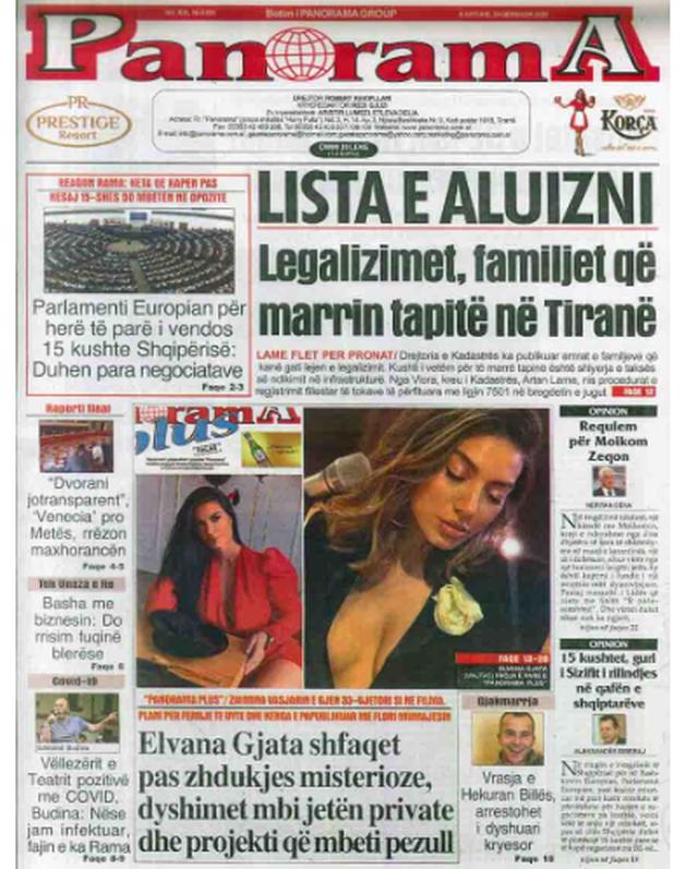 Shtypi/ Titujt kryesorë të gazetave për datën 20 qershor