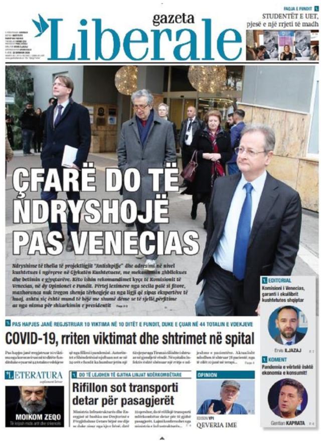 Shtypi/ Titujt kryesorë të gazetave për datën 22 qershor