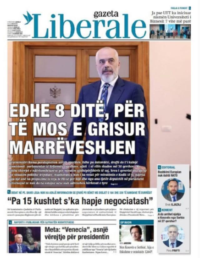 Shtypi/ Titujt kryesorë të gazetave për datën 23 qershor