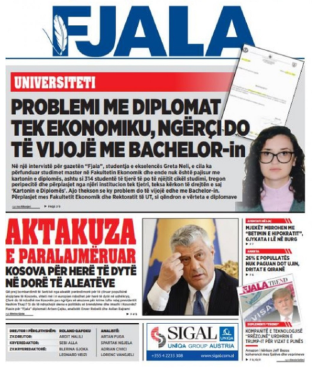 Shtypi/ Titujt kryesorë të gazetave për datën 26 qershor