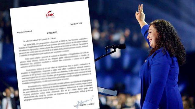 U shkarkua si nënkryetare e LDK: Vjosa Osmani kërkon listën e