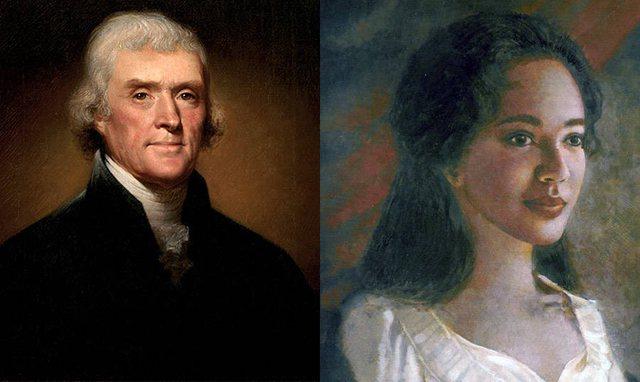 Një portret i Thomas Jefferson me skllaven që e dashuroi dhe pati dhe