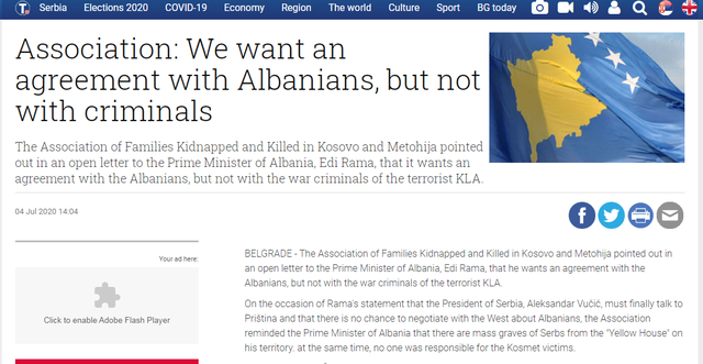 Shoqata serbe i dërgon letër Ramës: Duam marrëveshje me