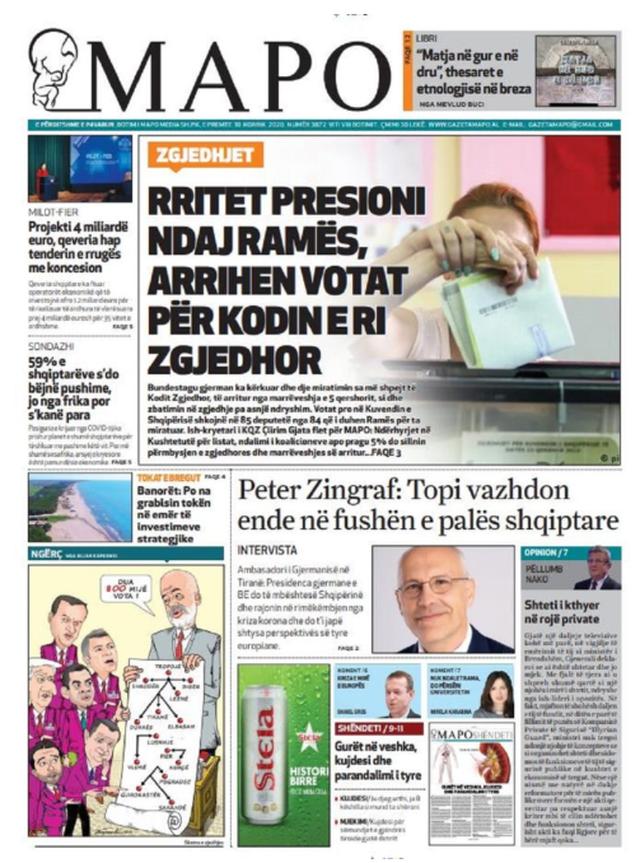 Shtypi/ Titujt kryesorë të gazetave për datën 10 korrik 2020