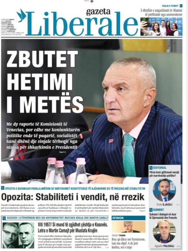 Shtypi/ Titujt kryesorë të gazetave për datën 14 korrik 2020