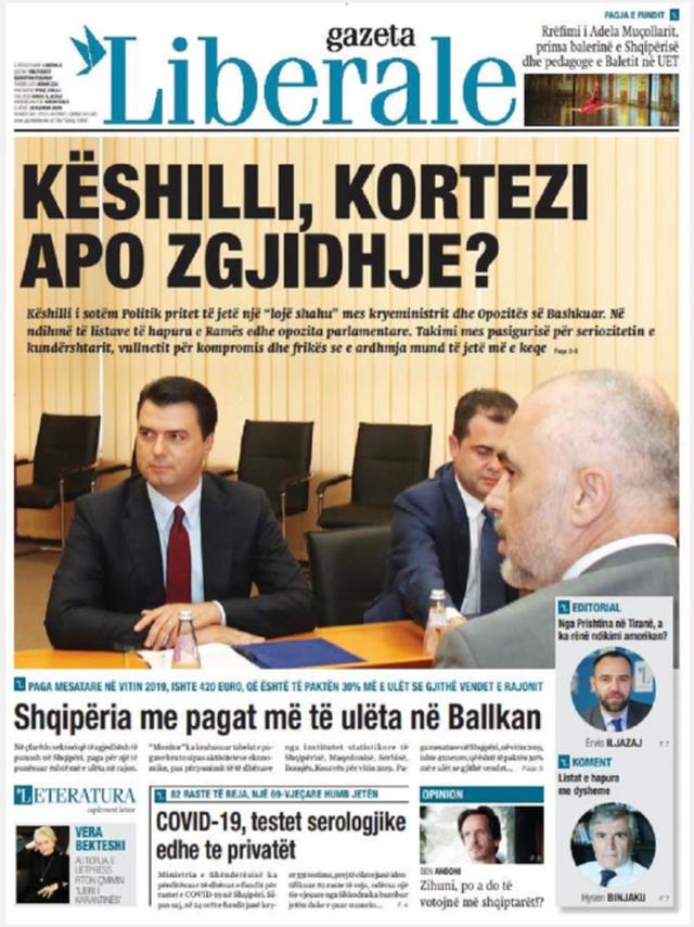 Shtypi/ Titujt kryesorë të gazetave për datën 20 korrik 2020