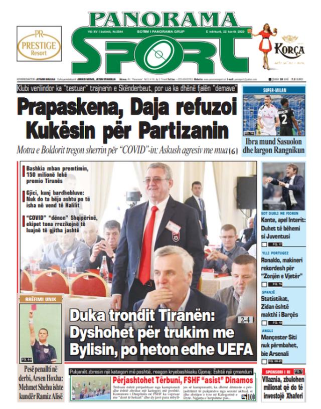 Shtypi/ Titujt kryesorë të gazetave për datën 22 korrik 2020