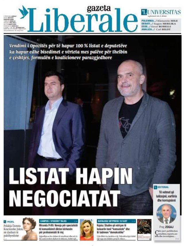 Shtypi/ Titujt kryesorë të gazetave për datën 25 korrik 2020