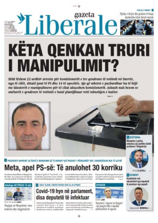 Shtypi/ Titujt kryesorë të gazetave për datën 29 korrik 2020
