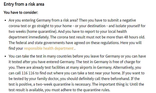 Nga java tjetër nëse shkoni në Gjermani duhet testi i Covid! Por