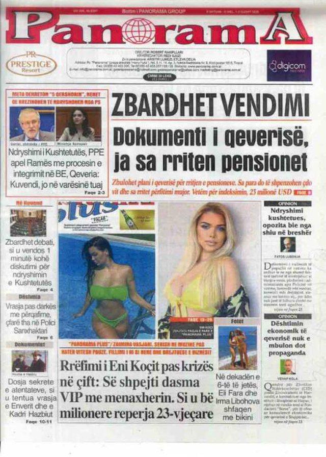 Shtypi/ Titujt kryesorë të gazetave për datën 1 gusht 2020