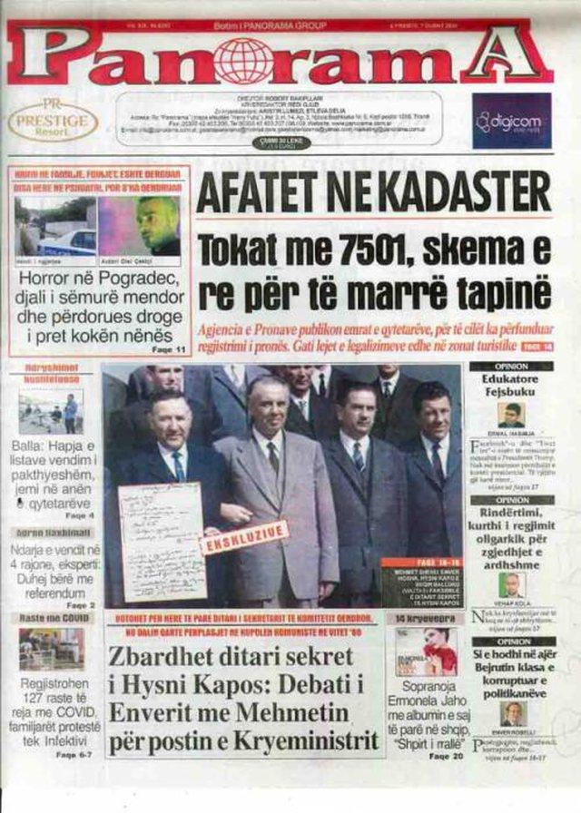Shtypi/ Titujt kryesorë të gazetave për datën 7 gusht 2020