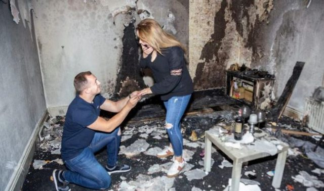 Përgatiti gjithçka që propozimi i martesës të ishte