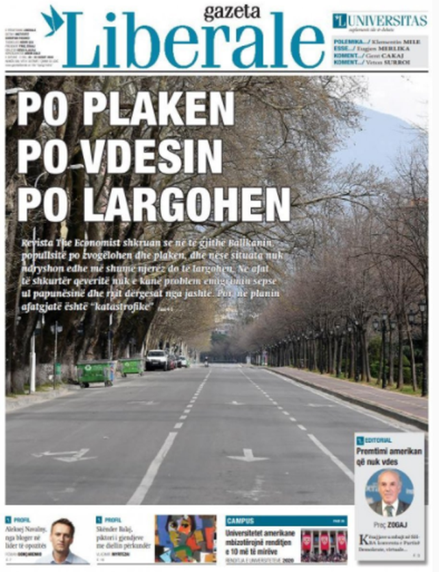 Shtypi/ Titujt kryesorë të gazetave për datën 22 gusht 2020
