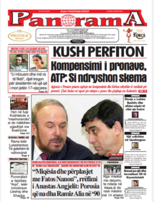 Shtypi/ Titujt kryesorë të gazetave për datën 24 gusht 2020