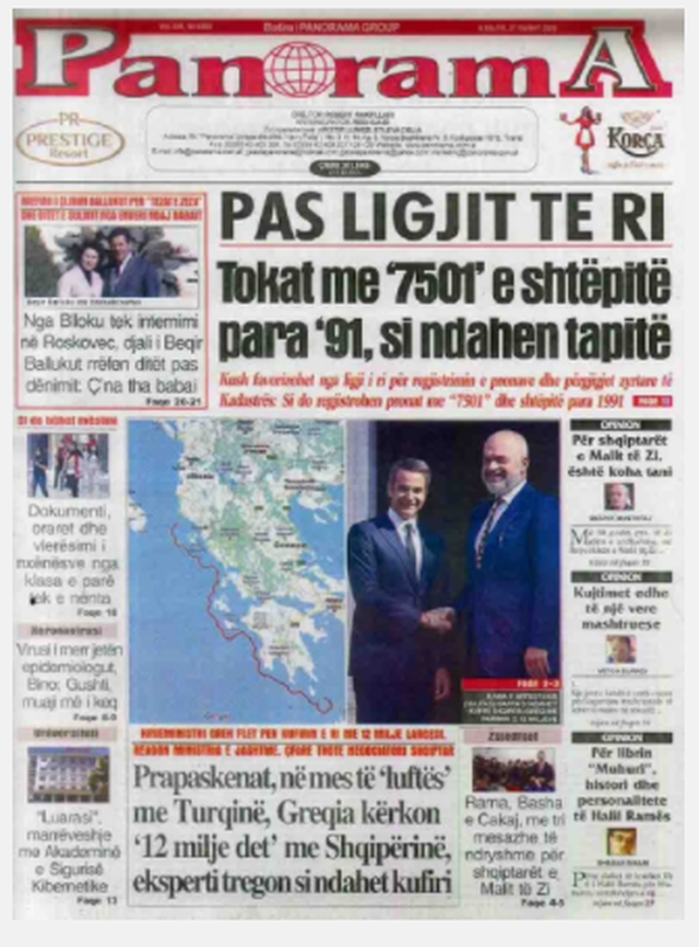 Shtypi/ Titujt kryesorë të gazetave për datën 27 gusht 2020