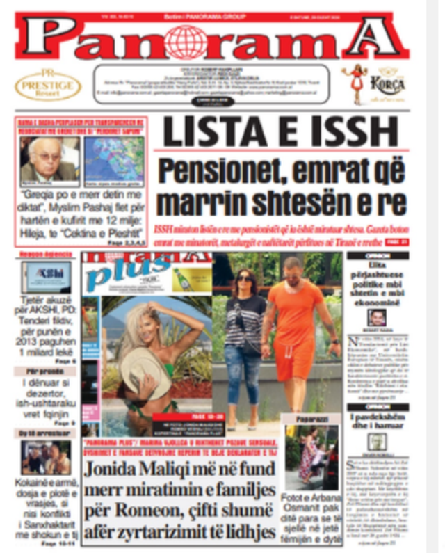 Shtypi/ Titujt kryesorë të gazetave për datën 29 gusht 2020