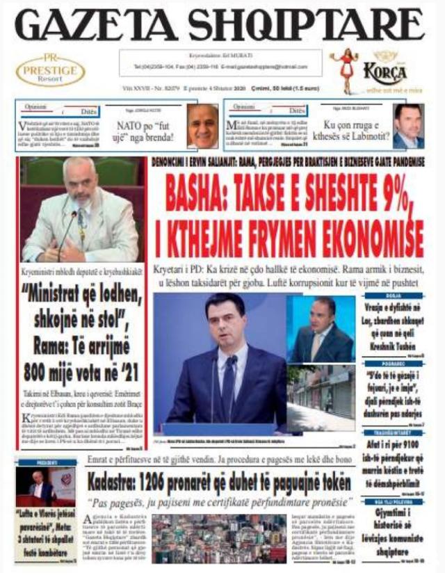 Zgjedhjet dhe deti, dy kryetemat e gazetave sot