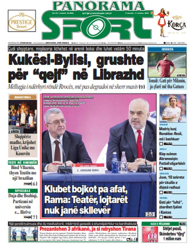 Shtypi/ Titujt kryesorë të gazetave për datën 11 shtator