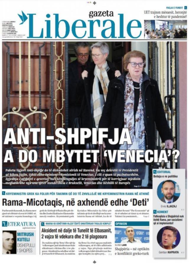 Shtypi/ Titujt kryesorë të gazetave për datën 14 shtator