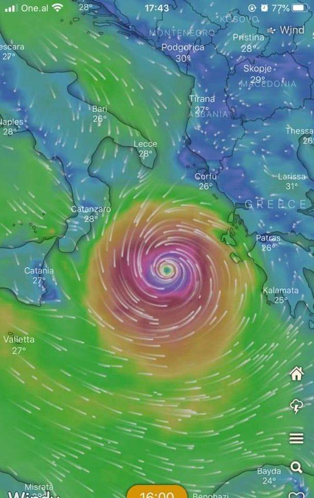 Një ciklon do prekë Shqipërinë këtë fundjavë: