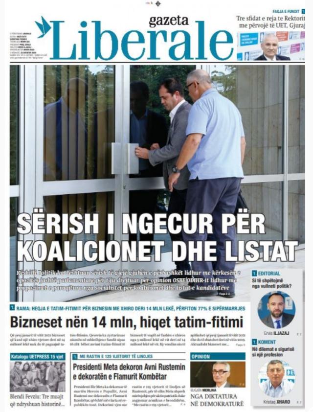 Tema kryesore e gazetave sot 'Listat e zgjedhjeve'