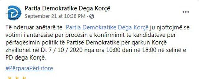 PD nis votimin për kandidatët për deputetë, zbardhet
