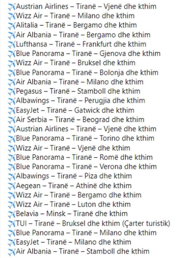 Rinasi konfirmon 27 fluturime. Ja ç`duhet të kenë parasysh