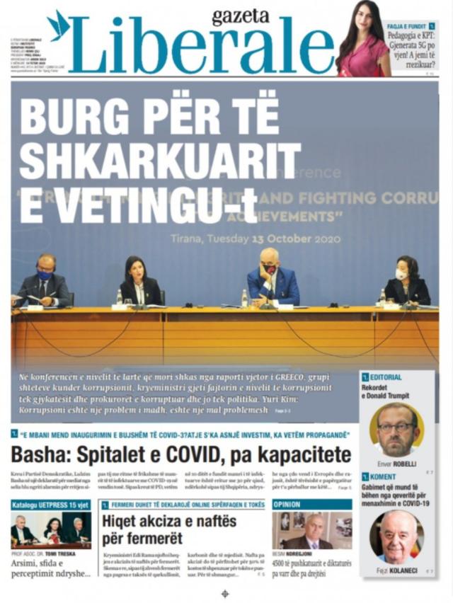 Shtypi/ Titujt kryesorë të gazetave për datën 14 tetor 2020