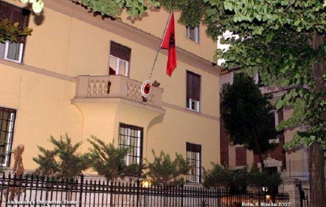 Pezullimi i shërbimeve, Ambasada shqiptare në Romë njofton